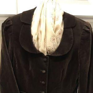 Antonio Melani dark brown velvet jacket